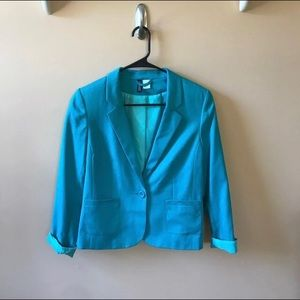DIVIDED by H&M Teal Blazer